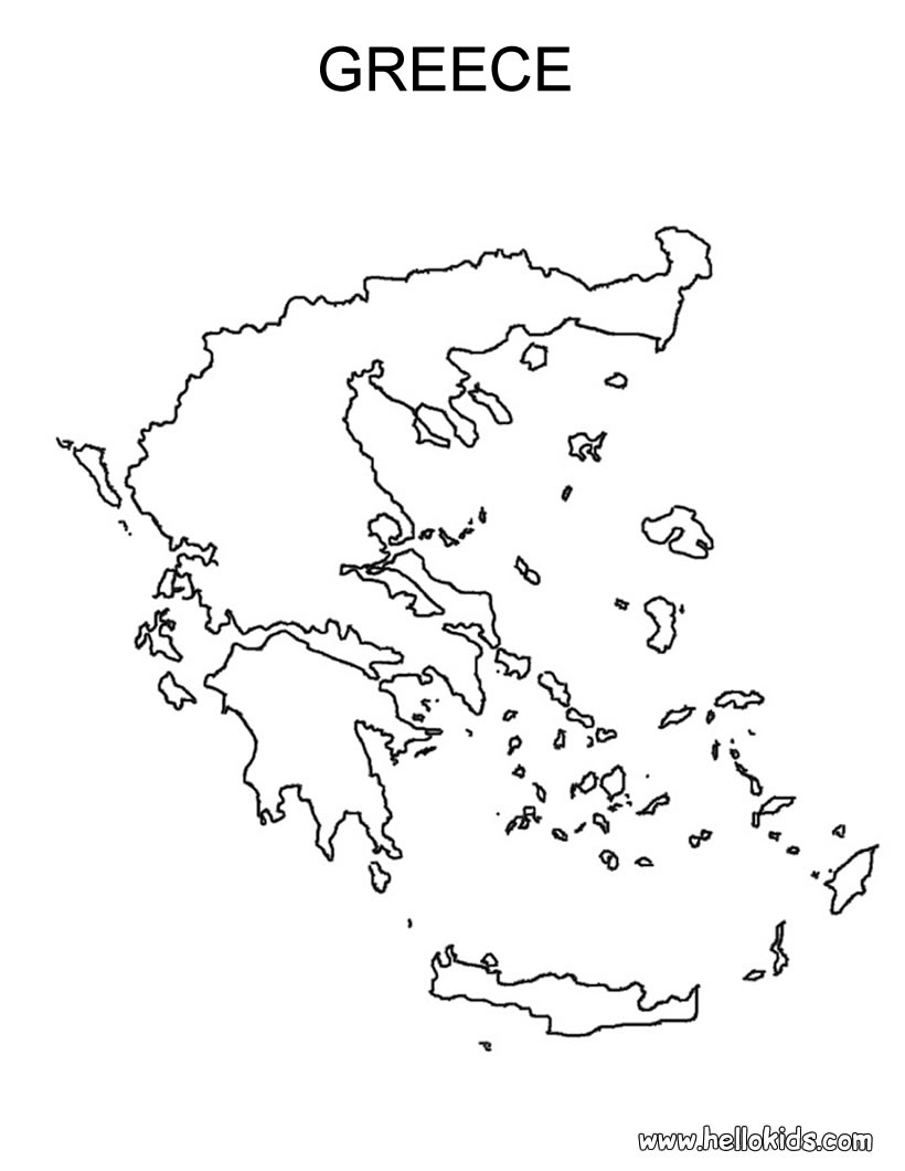 Ancient Greece Map Outline.Blank Map Of Ancient Greece Vector Map