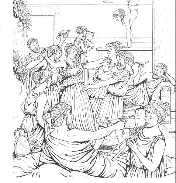 579x600 Greek Coloring Pages Good Ancient For You On Greek Architecture