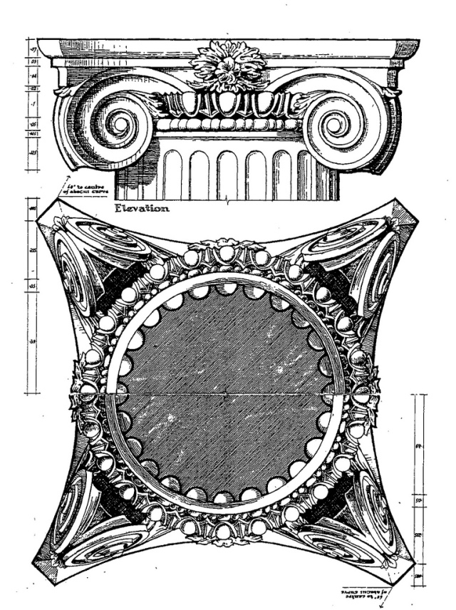 Greek Column Drawing