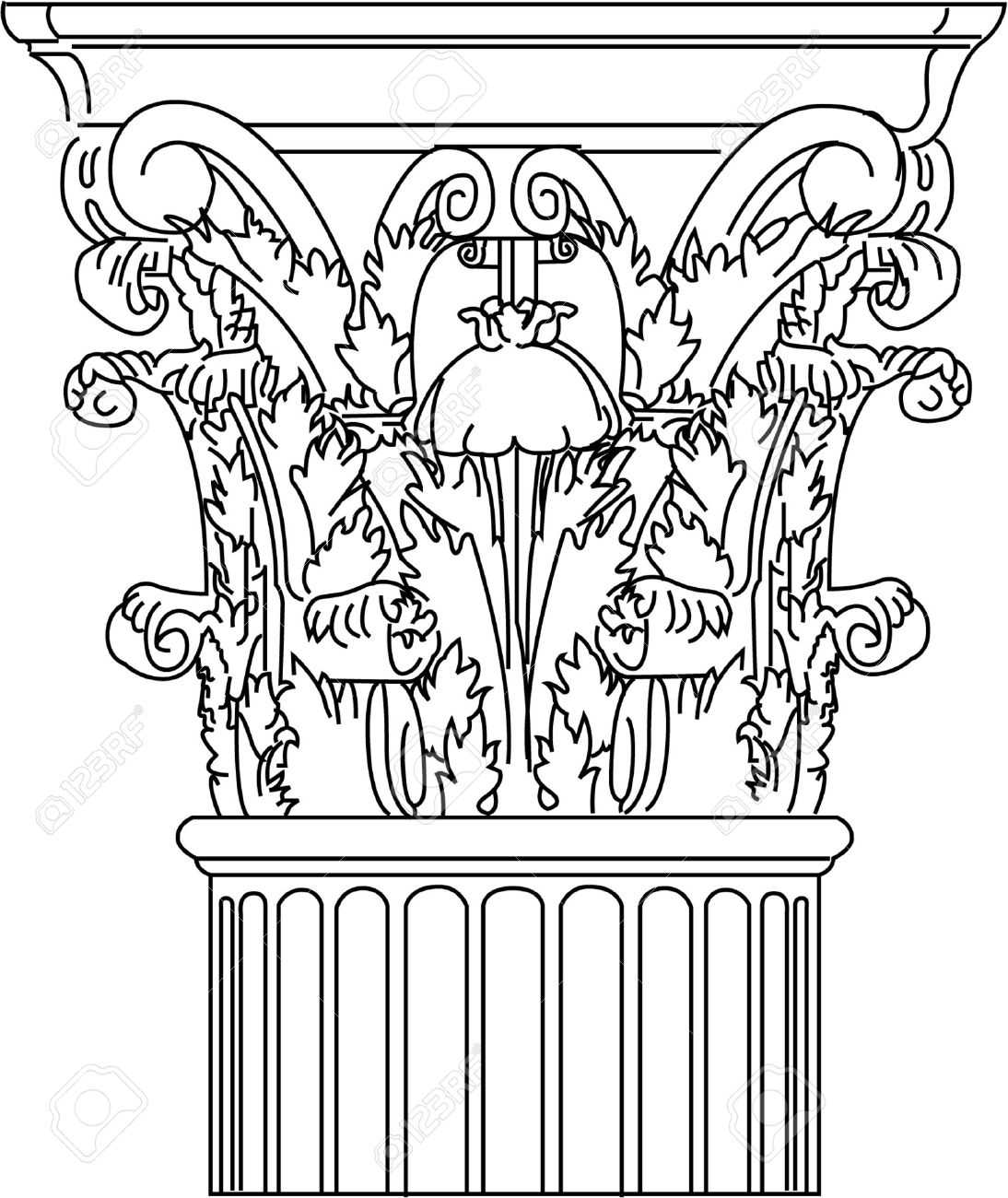 1094x1300 Corinthian Column Royalty Free Cliparts, Vectors, And Stock