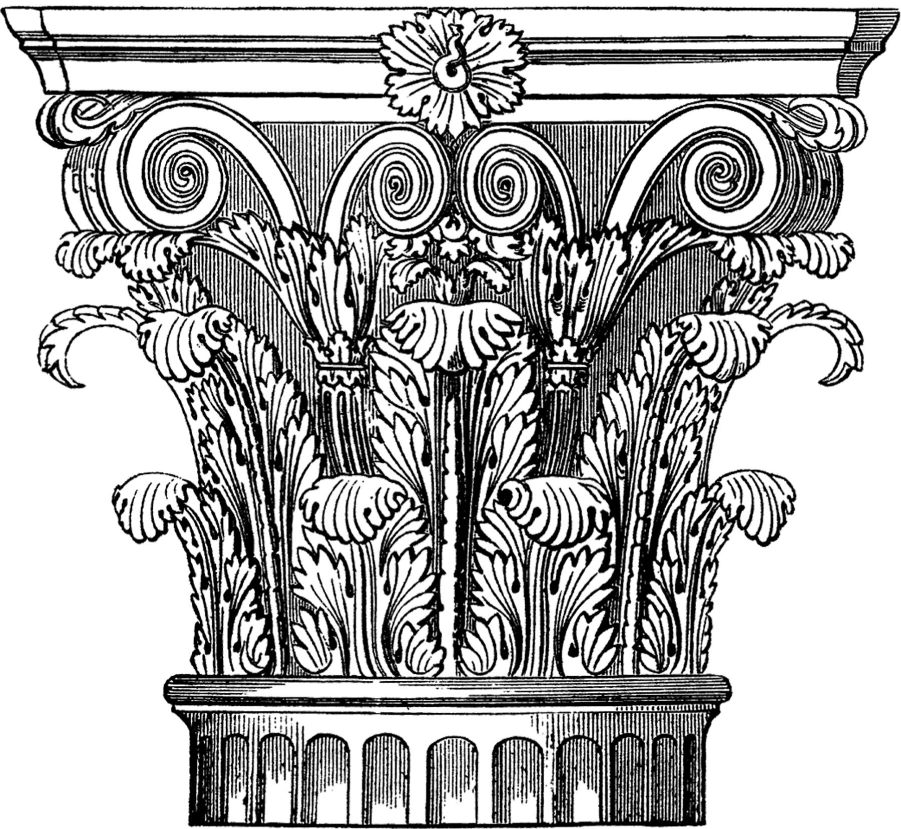 1800x1655 Ornate Corinthian Column Image!