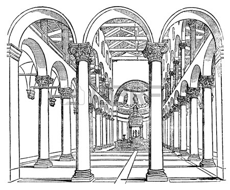 450x372 Victorian Engraving Of A Gothic Pillar. Digitally Restored Image