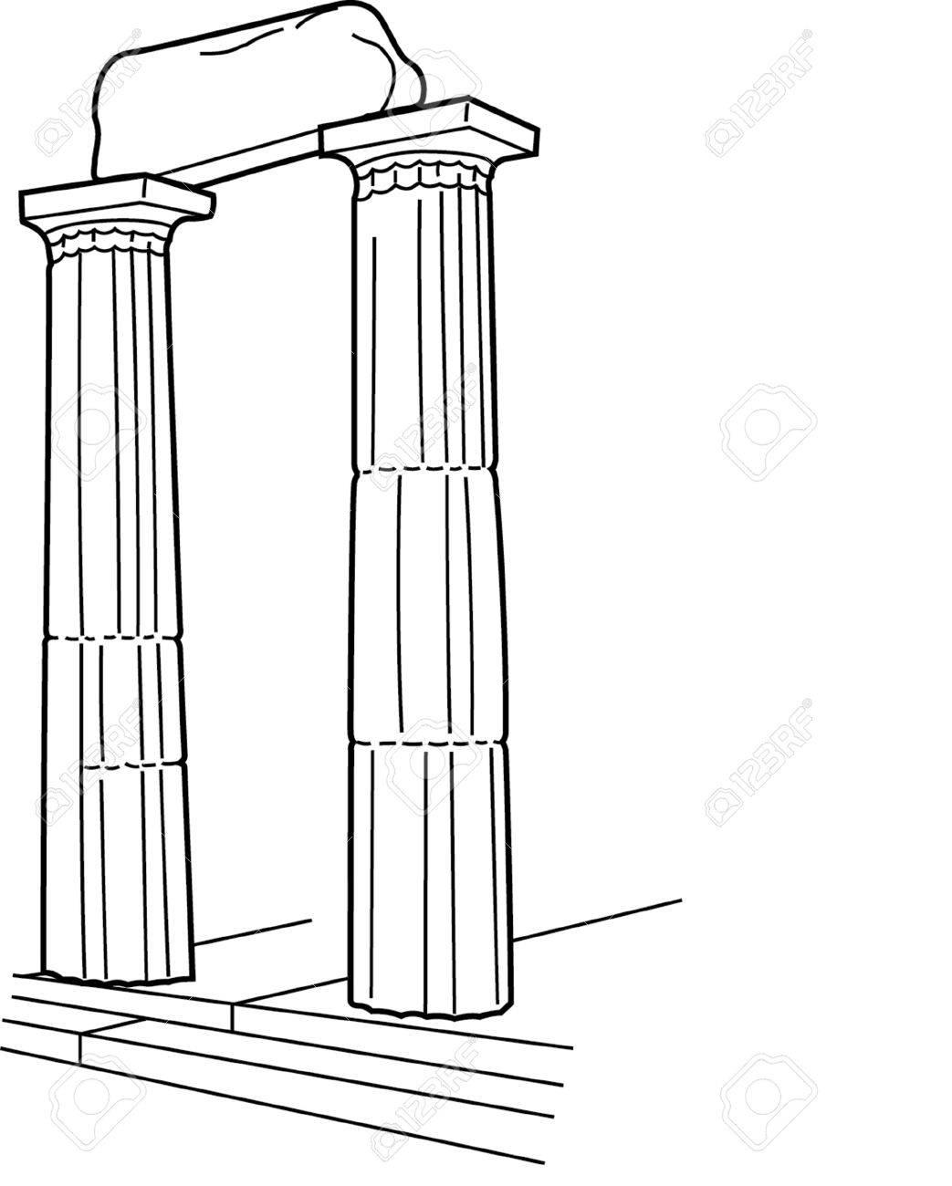 1043x1300 Antique Column Pillar Royalty Free Cliparts, Vectors, And Stock