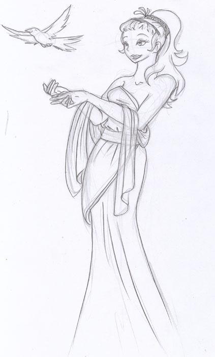 423x700 Greek Goddess Aphrodite By Phishritzy