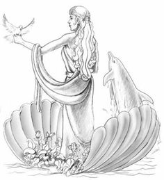 236x259 Aphrodite Greek Goddess Drawings Pretty Pictures