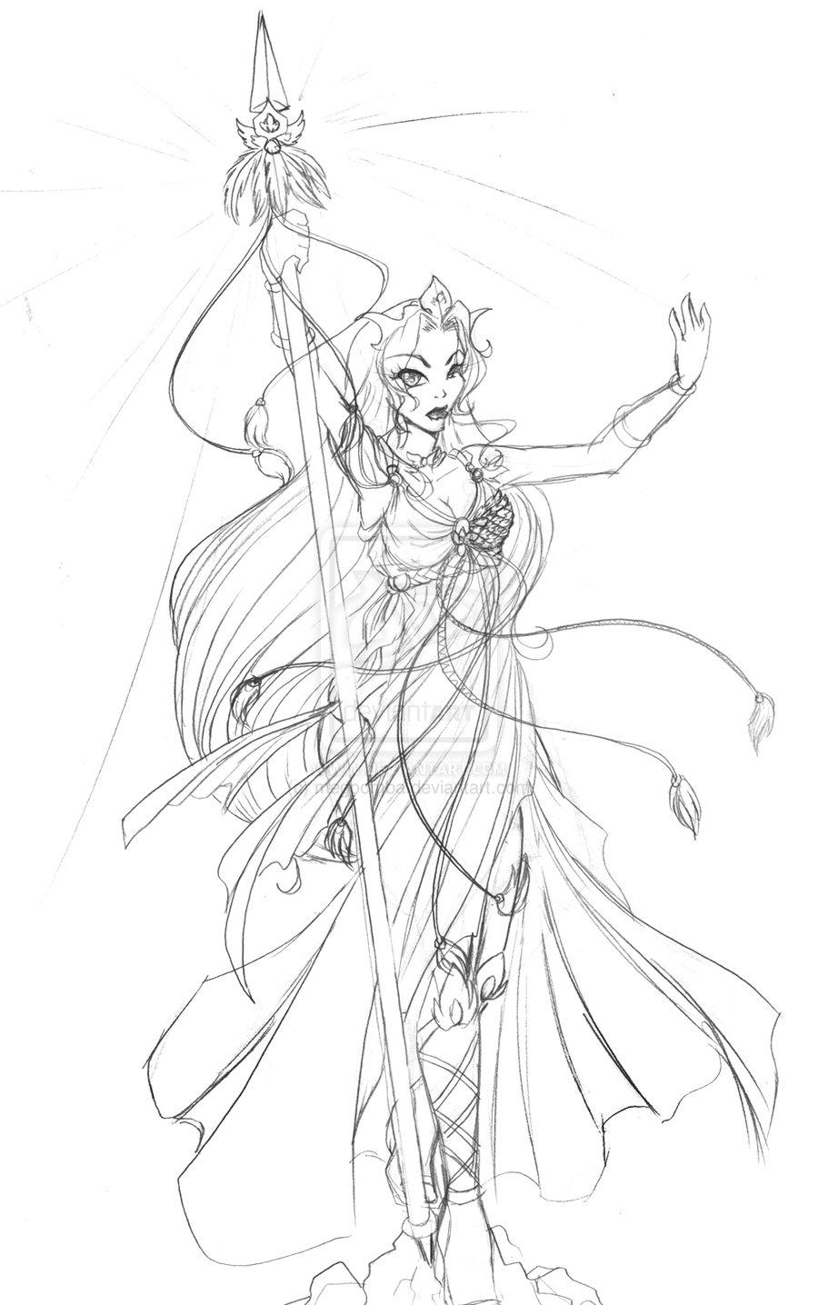 900x1436 Aphrodite Ix Sexy Sketch Page