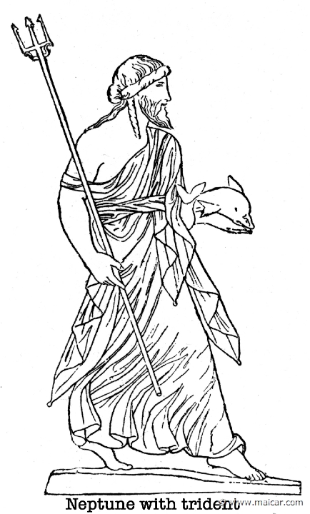 poseidon greek gods coloring pages-#19