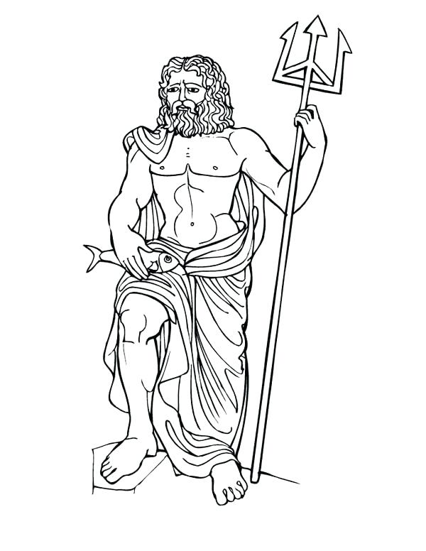 600x776 Greek Goddess Coloring Pages Pin Drawn Creature Myth 2 Mythical