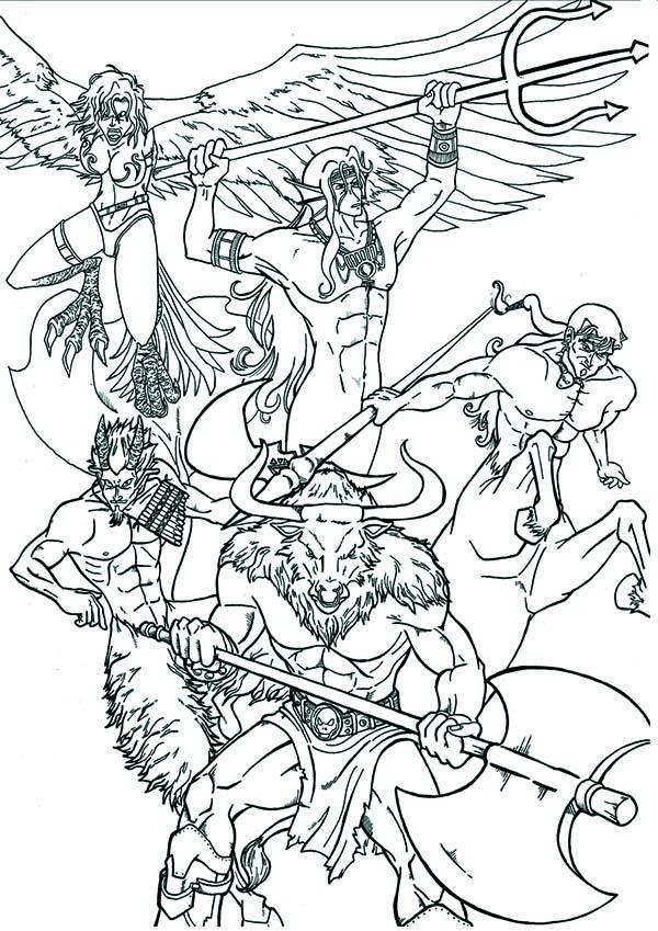 600x849 Greek Mythology, An Artistic Illustration Of Greek Mythology God