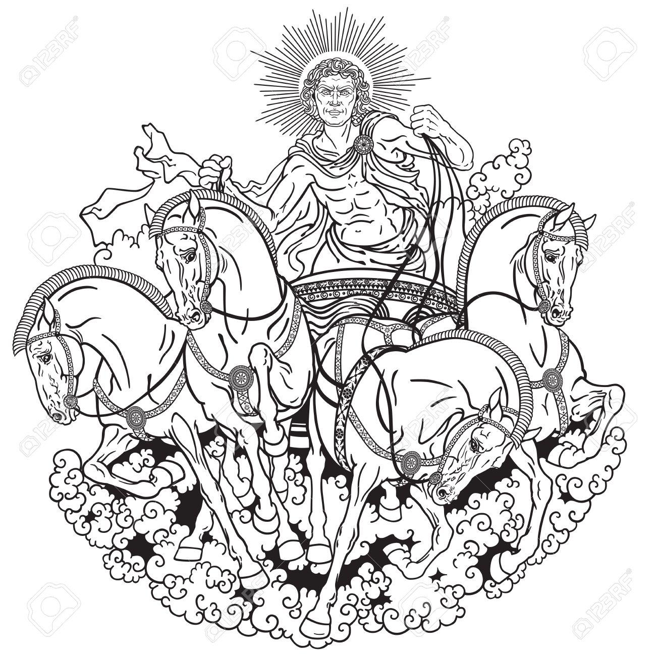 1300x1300 Helios Personification Of The Sun Driving A Chariot Drawn By