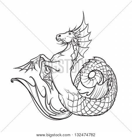450x470 Hippocampus Greek Mythological Vector Amp Photo Bigstock