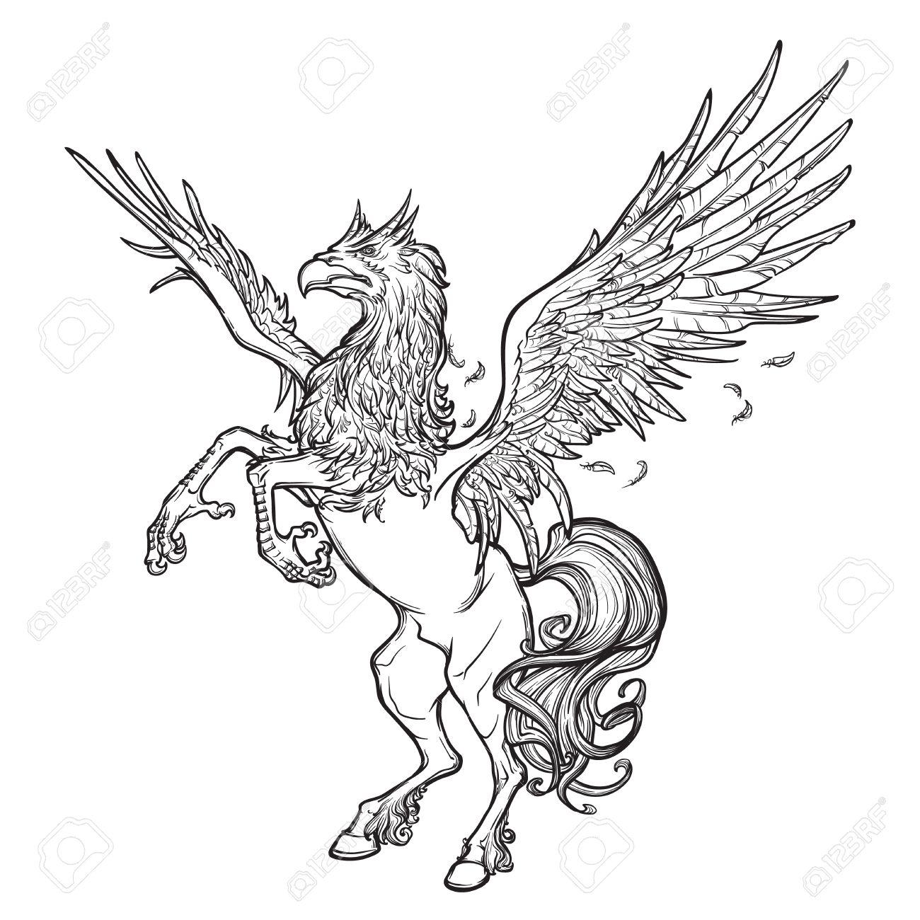 1300x1300 Hippogriff Greek Mythological Creature Legendary Beast Concept