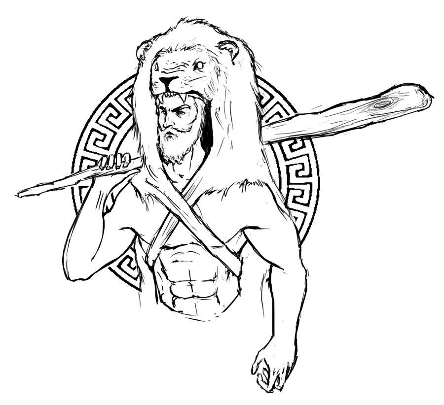 900x822 How To Draw Nemean Lion Greek Mythology