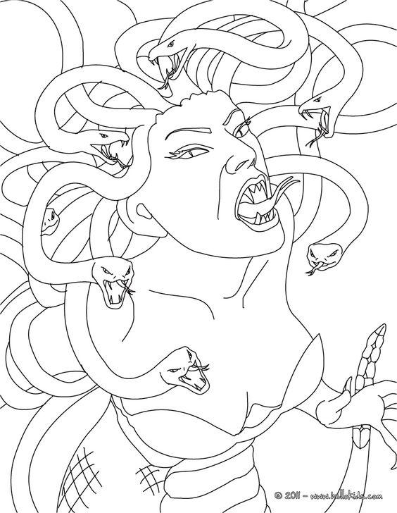 564x728 Greek Mythology Drawings Medusa The Gorgon With Snake Hair
