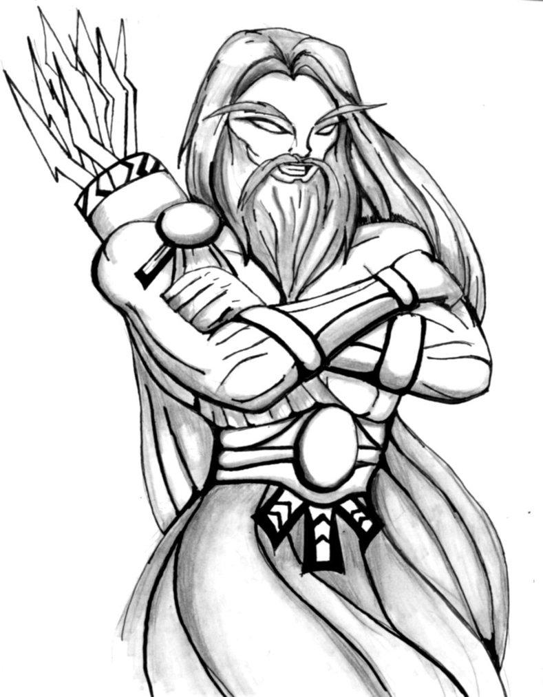 789x1013 Vector Art Cartoon Illustration Of Mythological Greek God Zeus