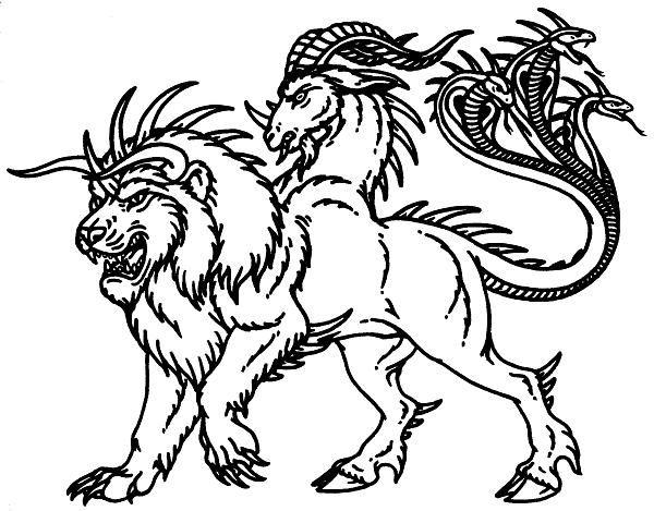 600x469 Drawn Creature Greek Mythology