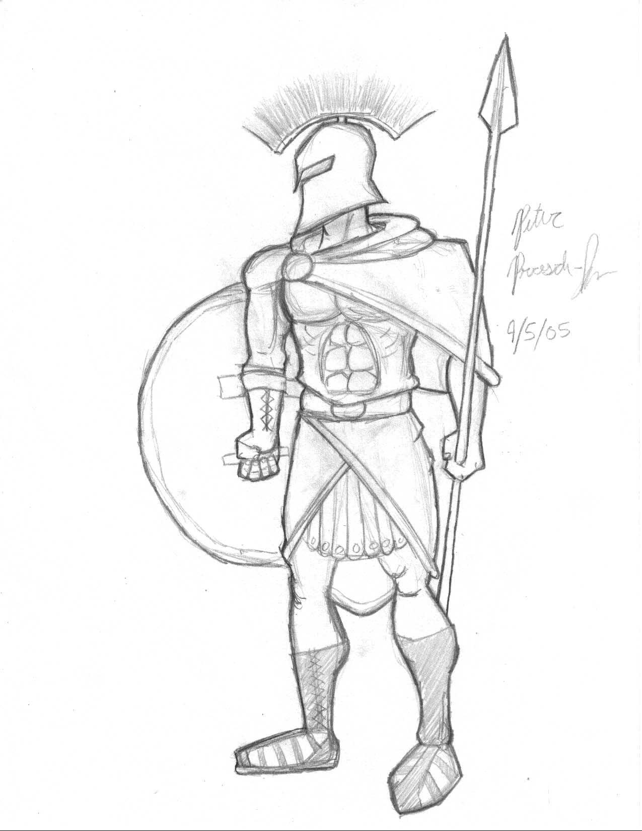 1275x1650 Greek Warrior Drawing Leg Greek Warriors Fighting