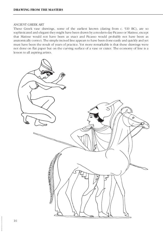 Greek Vase Drawing