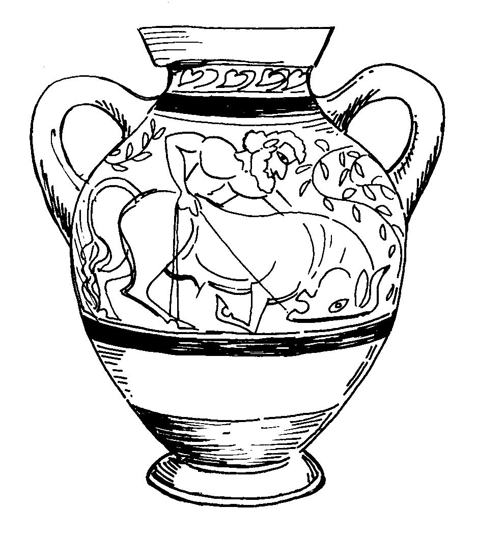 937x1058 Greek Vase Coloring Pages