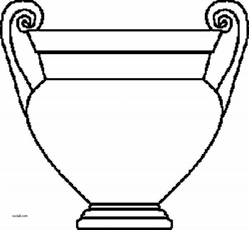 800x739 Greek Vase Outline