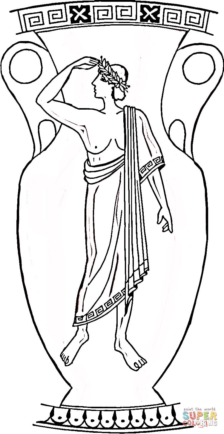750x1449 Greek Vase Coloring Page Free Printable Pages