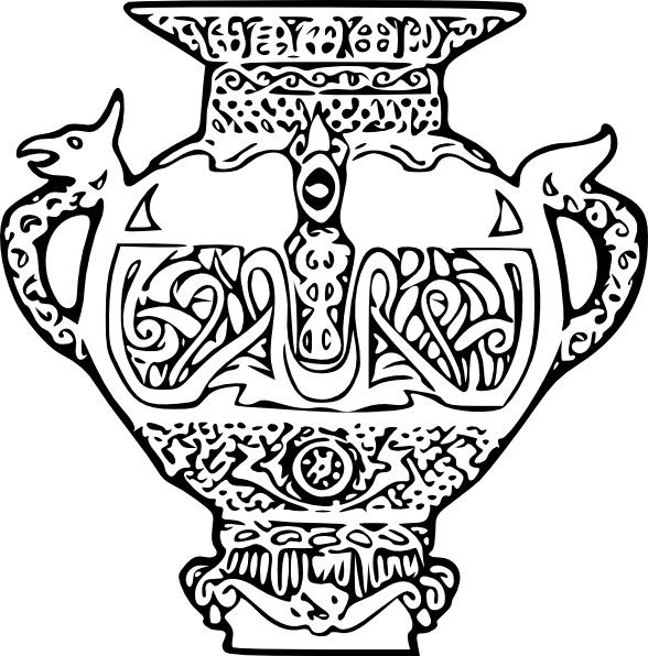 588x596 Greek Vase Design Free Vector Download (156 Free Vector)