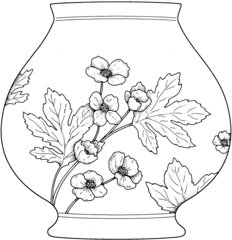 464x480 Vase Coloring Page Free Printable Coloring Pages