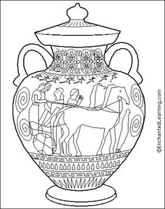 236x299 Ancient Greece Coloring Pages Coloring Pages Greek Amphora
