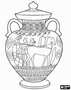 236x300 Ancient Greek Olympics Coloring Pages Of Two Horses