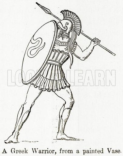 Greek Warrior Drawing