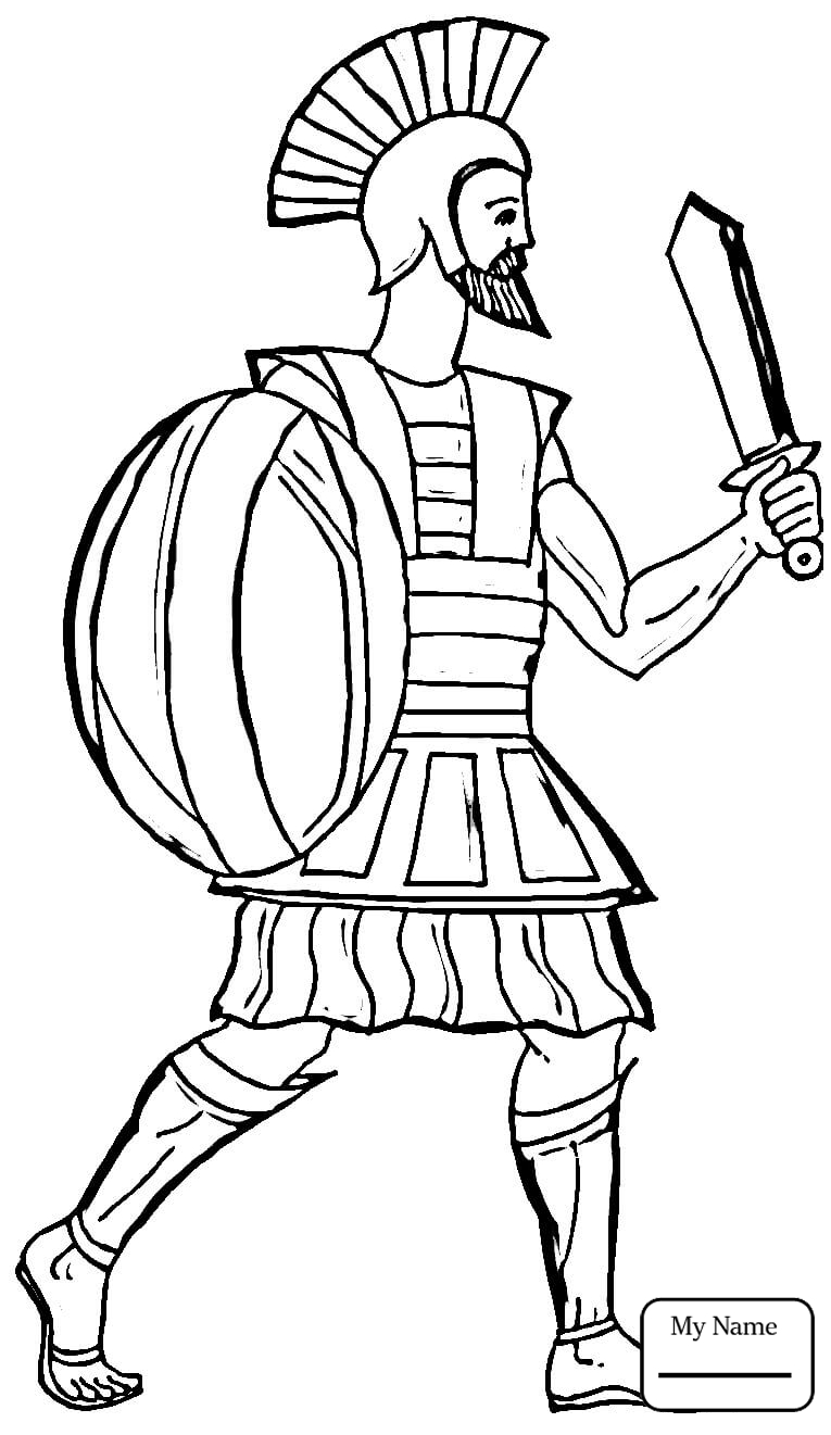 Greek Warrior Drawing At Getdrawings Com Free For Personal