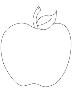 236x304 Apple Pattern. Use The Printable Outline For Crafts, Creating
