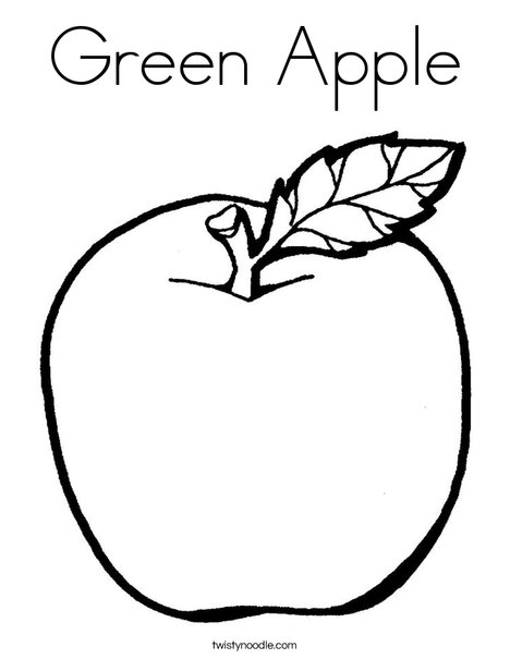 Green Apple Drawing at GetDrawings.com | Free for personal use Green ...