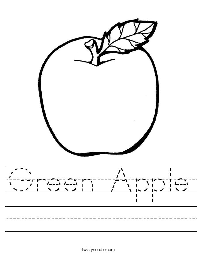 685x886 Green Apple Worksheet