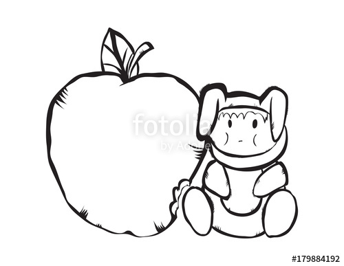500x387 Small Bunny And A Large Green Apple, Useful Fruit For Children