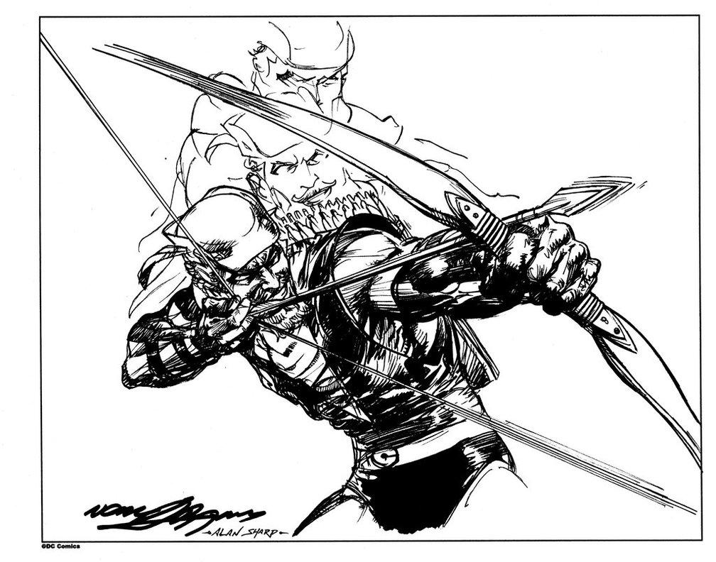 Green Arrow Drawing