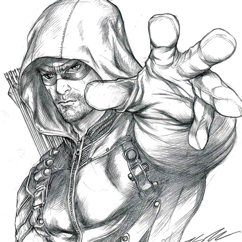 Green Arrow Drawing