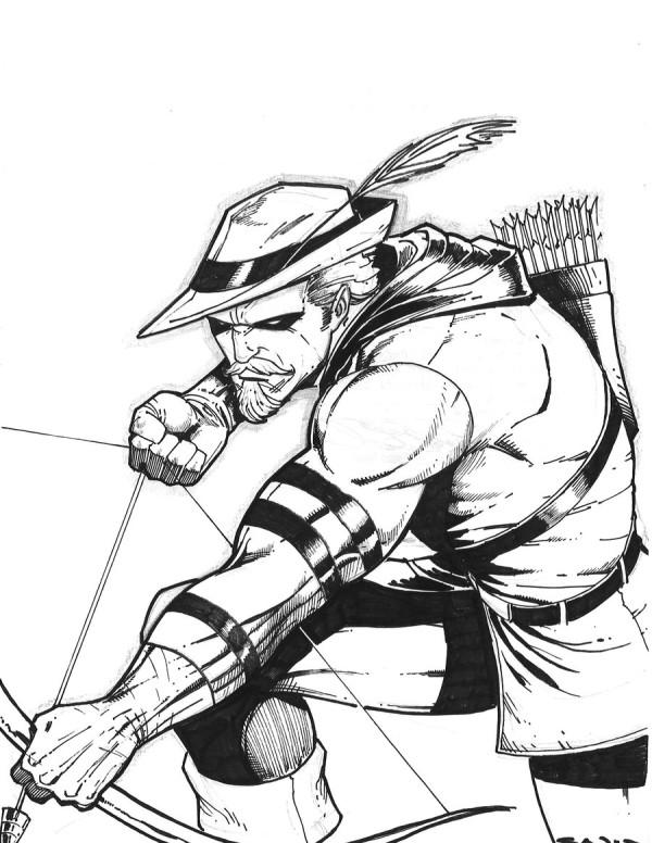 600x776 Green Arrow Drawing By Sajad Shah Geek Arrow