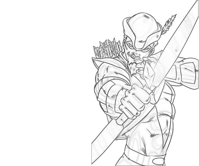 800x667 Green Arrow Coloring Pages