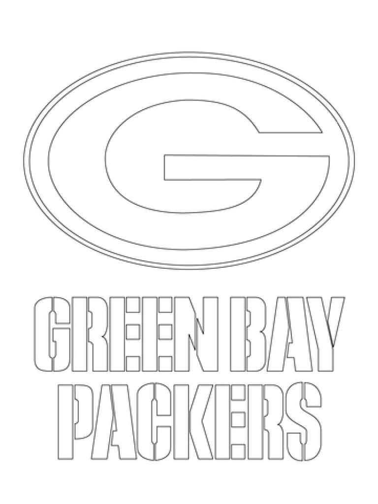 768x1024 Green Bay Packers Coloring Pages