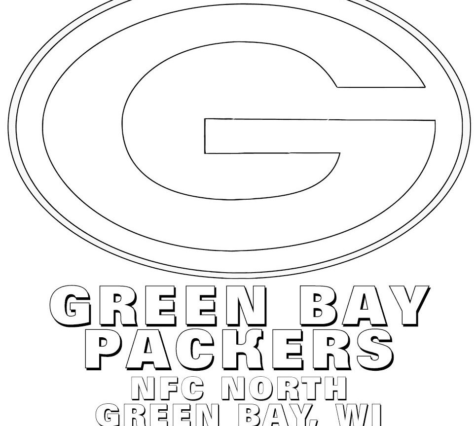 965x864 Green Bay Packers Coloring Page Erins Vintage Clear And Helmet