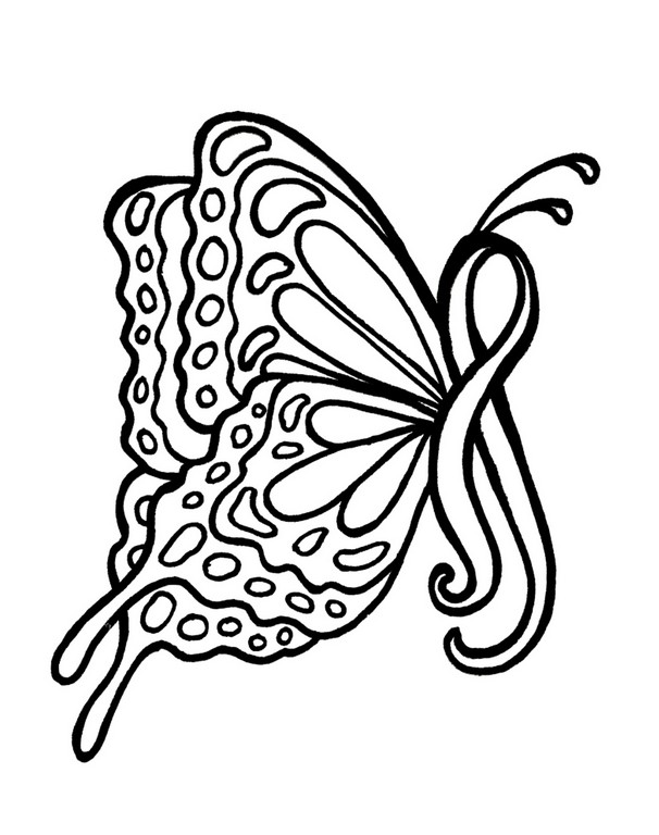 606x768 Cool Drawings For Breast Cancer Breast Cancer Coloring Pages