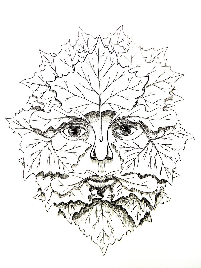 774x1032 Greenman How To Draw The Green Man, Green Man Step 7 Patterns