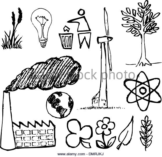 557x540 Green Earth Ecology Doodle Set Stock Photos Amp Green Earth Ecology