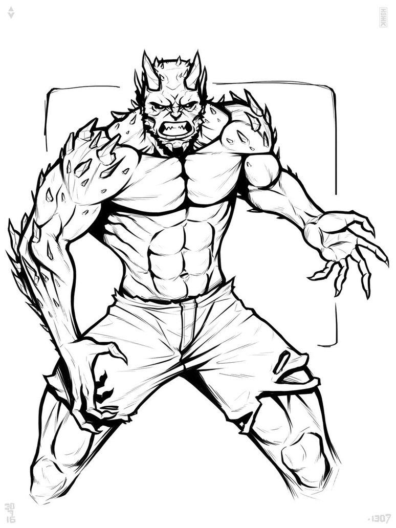 Green Goblin Drawing