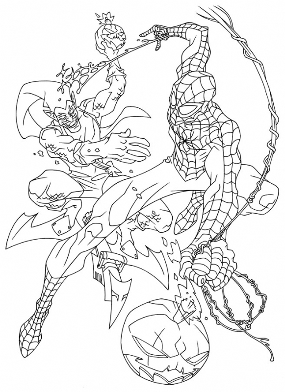 581x800 Spider Man Vs Green Goblin (Lineart) By Rob Haynes, In Doctor