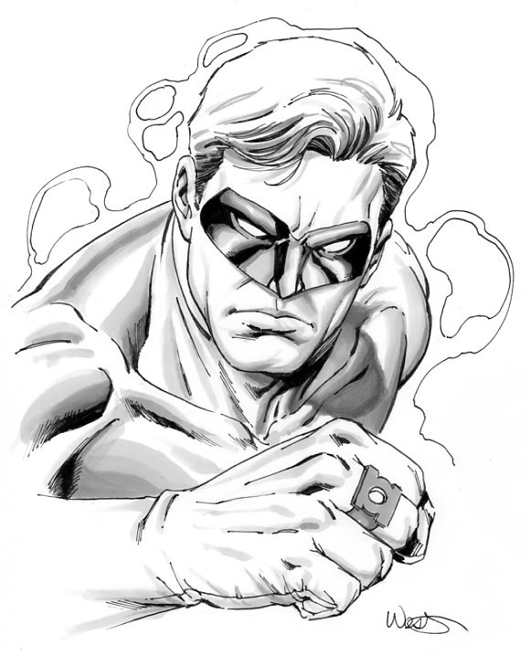 580x717 Green Lantern, In The June 2011 Green Lantern Comic Art Sketchbook