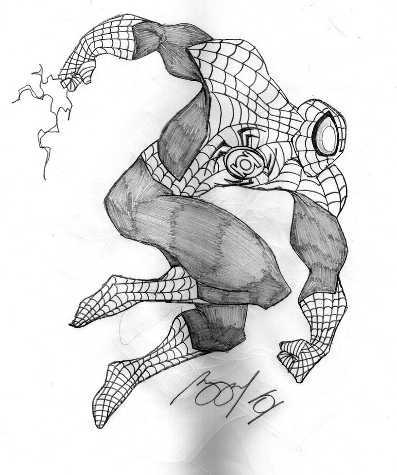 817x977 Green Lantern Spider Man By Prongsky