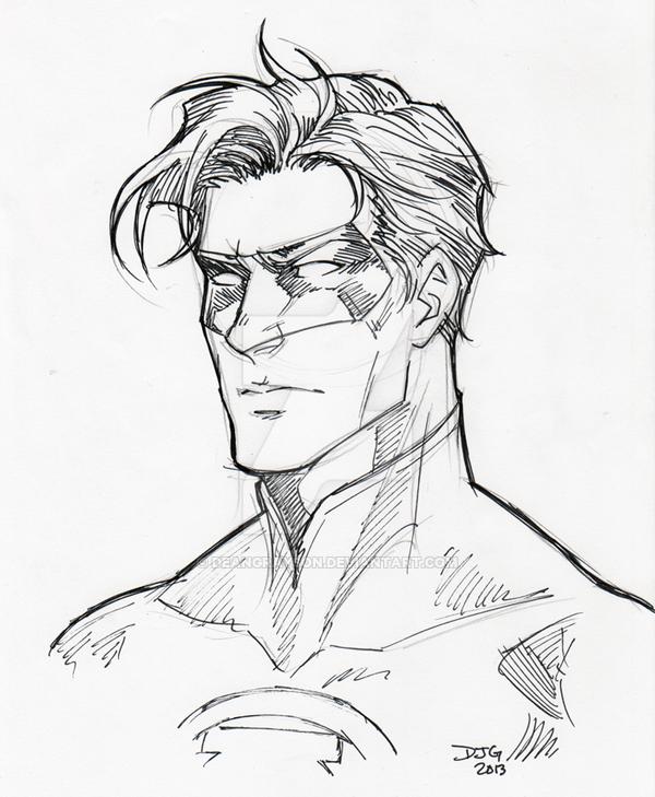 600x729 Green Lantern Inks By Deangrayson