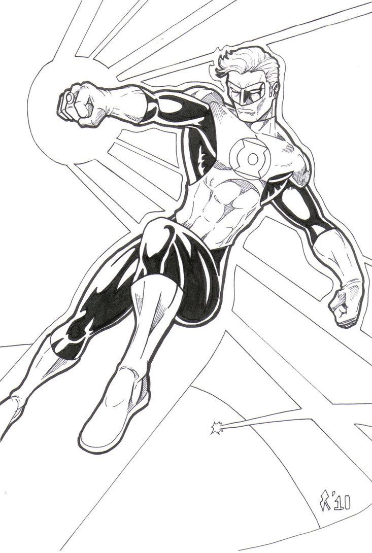 733x1090 Green Lantern Line Art By Jrascoe